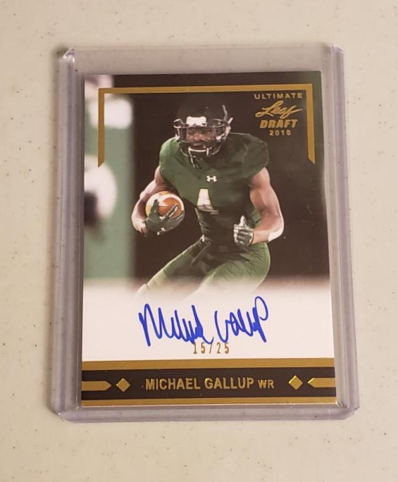 2018 Leaf Ultimate Draft 1991 Leaf Rookie Autographs Gold