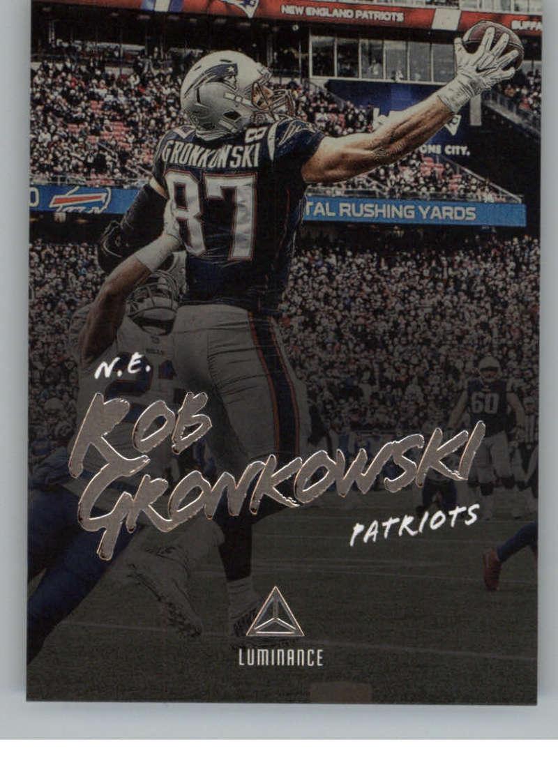 2018 Panini Luminance #66 Rob Gronkowski New England Patriots NFL Football Trading Card