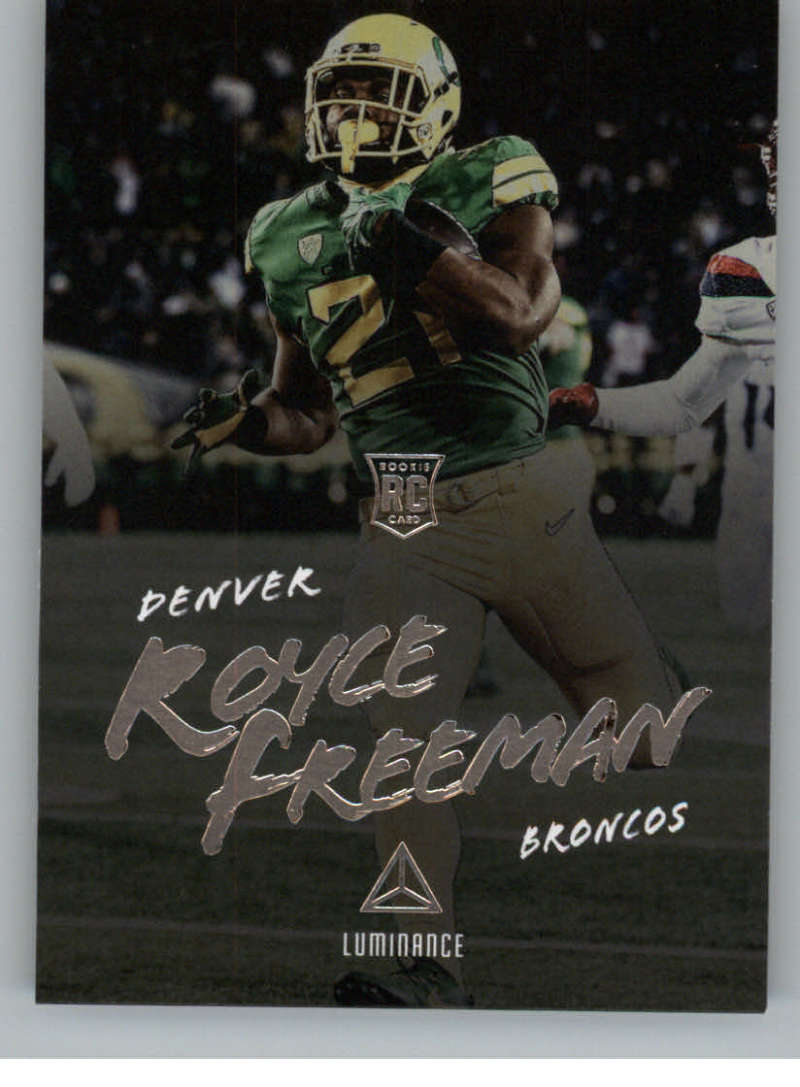 2018 Panini Luminance Luminance #187 Royce Freeman Rookie NM Near Mint