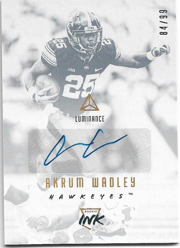 2018 Panini Luminance Rookie Ink Gold