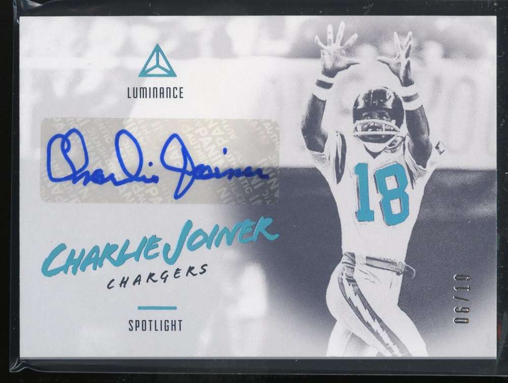 2018 Panini Luminance Spotlight Signatures Platinum Blue