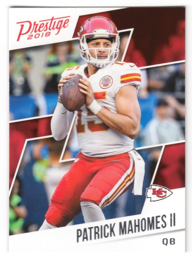 2018 Prestige NFL #22 Patrick Mahomes II Kansas City Chiefs Panini Football Card