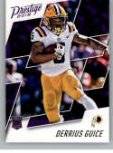2018 Prestige NFL #231 Derrius Guice Washington Redskins Rookie Card RC Panini Football Card