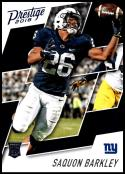 2018 Prestige NFL #261 Saquon Barkley New York Giants Rookie Card RC Panini Football Card