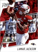 2018 Prestige NFL #279 Lamar Jackson Baltimore Ravens Rookie Card RC Panini Football Card