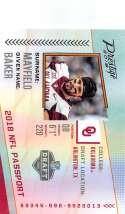 2018 Prestige NFL NFL Passport #PP-BM Baker Mayfield Oklahoma Sooners Panini Football Card
