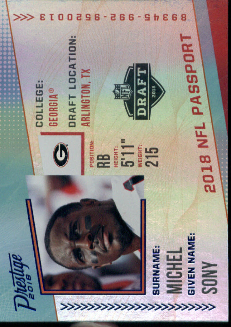2018 Panini Prestige NFL Passport XTRA Points Blue