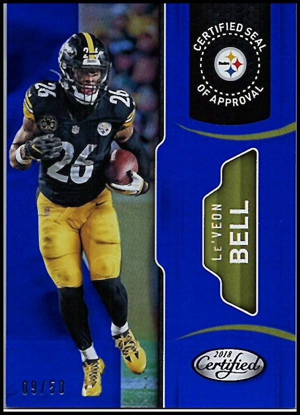 2018 Panini Certified Seal of Approval Mirror Blue