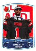 2018 Panini NFL Stickers Collection #8 Denzel Ward RC Rookie Cleveland Browns Draft Picks Official Football Sticker