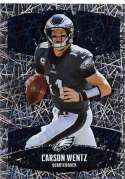 2018 Panini NFL Stickers Collection #254 Carson Wentz Philadelphia Eagles Foil Official Football Sticker