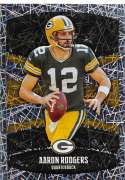 2018 Panini NFL Stickers Collection #306 Aaron Rodgers Green Bay Packers Foil Official Football Sticker