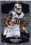 2018 Panini NFL Stickers Collection #398 Todd Gurley II Los Angeles Rams Foil Official Football Sticker