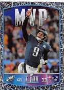 2018 Panini NFL Stickers Collection #458 Nick Foles Philadelphia Eagles Super Bowl LII MVP Official Football Sticker