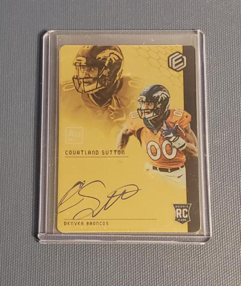 2018 Panini Elements RPS Rookie Gold Signatures