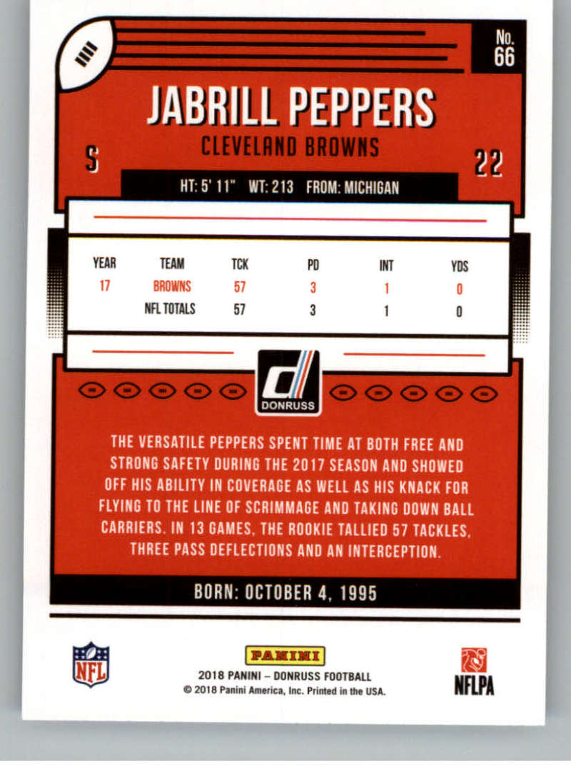 2018-Donruss-Football-Card-Singles-NFL-You-Pick-1-150 thumbnail 125