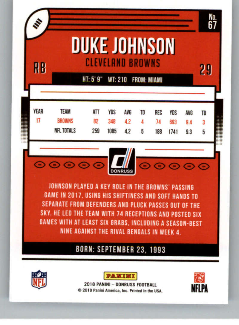 2018-Donruss-Football-Card-Singles-NFL-You-Pick-1-150 thumbnail 127
