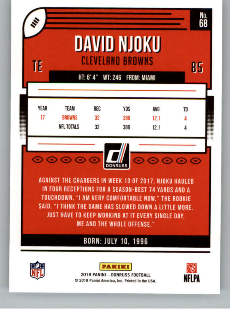 2018-Donruss-Football-Card-Singles-NFL-You-Pick-1-150 thumbnail 129