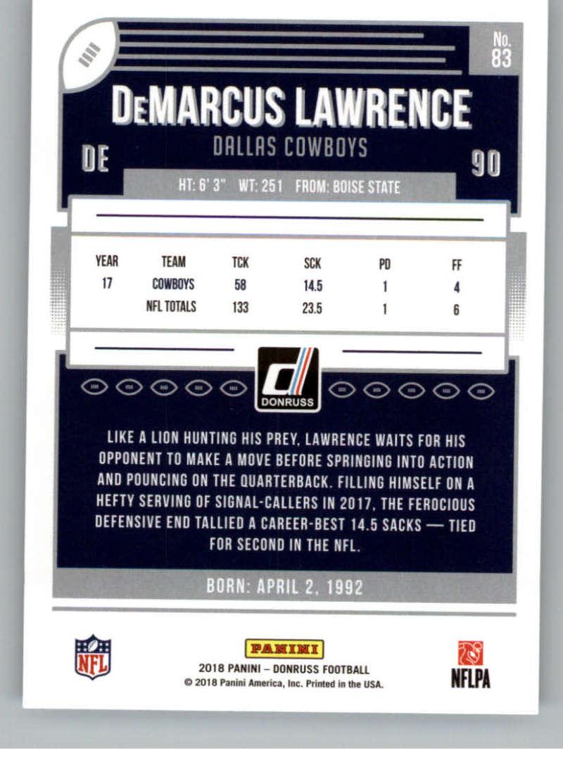 2018-Donruss-Football-Card-Singles-NFL-You-Pick-1-150 thumbnail 153