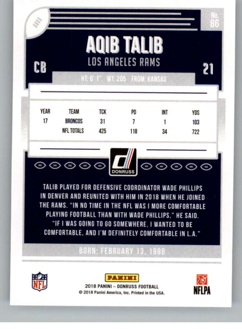 2018-Donruss-Football-Card-Singles-NFL-You-Pick-1-150 thumbnail 157