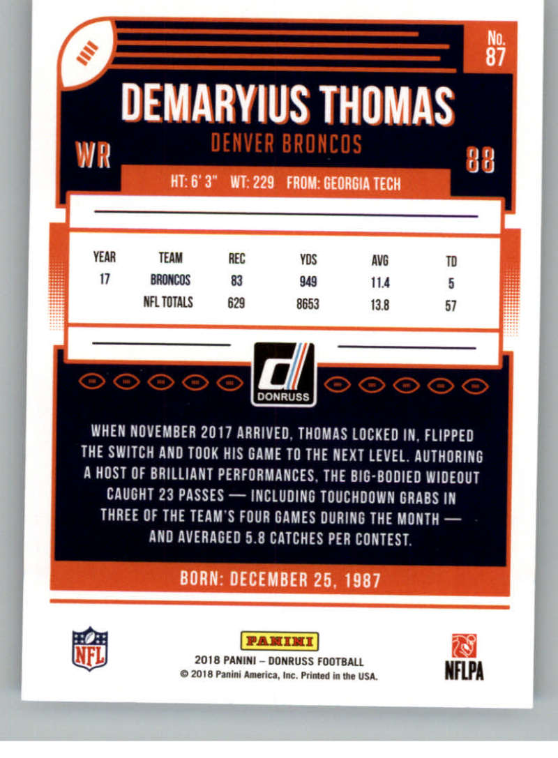 2018-Donruss-Football-Card-Singles-NFL-You-Pick-1-150 thumbnail 159
