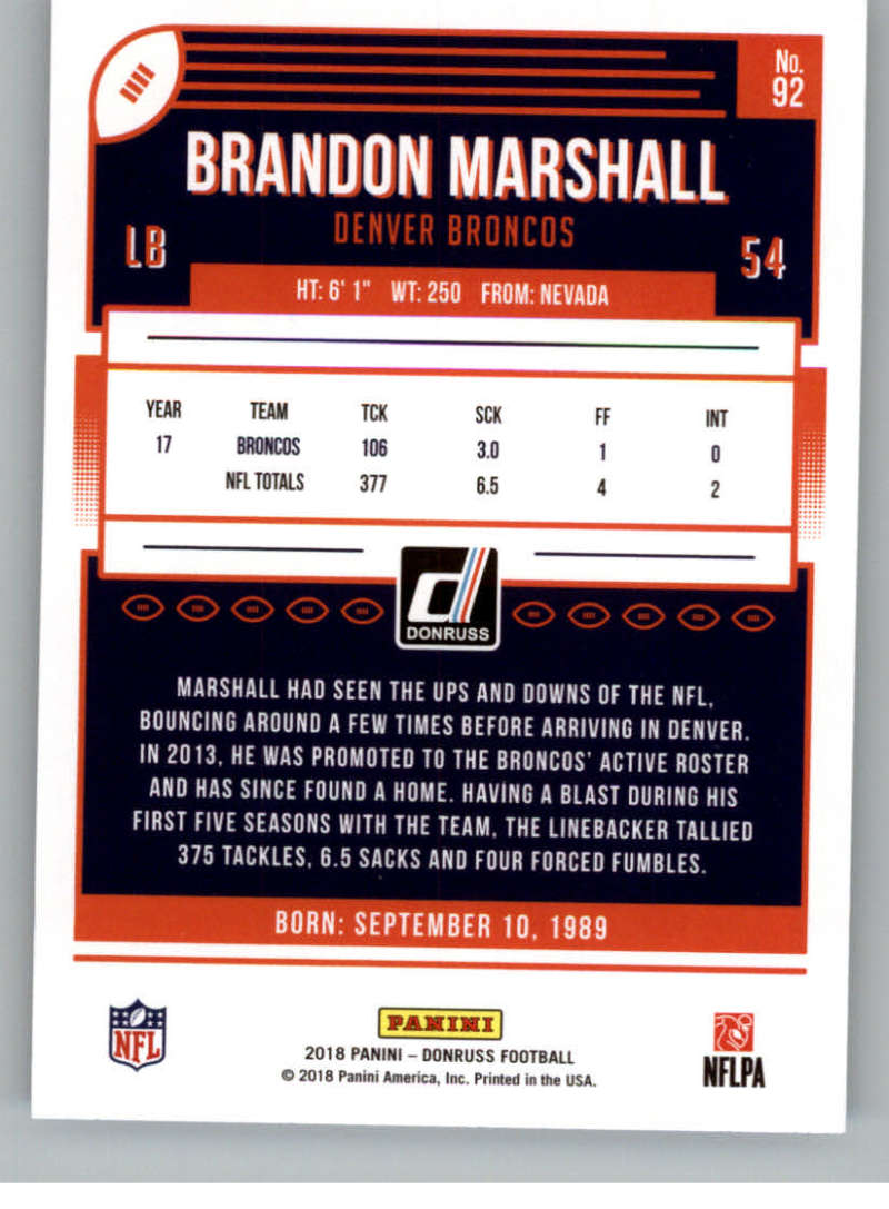 2018-Donruss-Football-Card-Singles-NFL-You-Pick-1-150 thumbnail 169