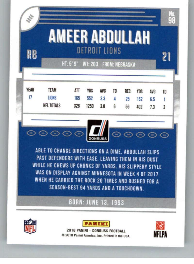 2018-Donruss-Football-Card-Singles-NFL-You-Pick-1-150 thumbnail 181
