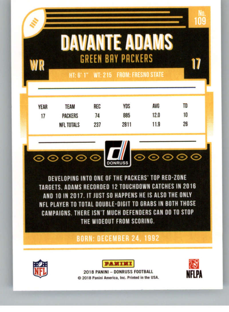2018-Donruss-Football-Card-Singles-NFL-You-Pick-1-150 thumbnail 201