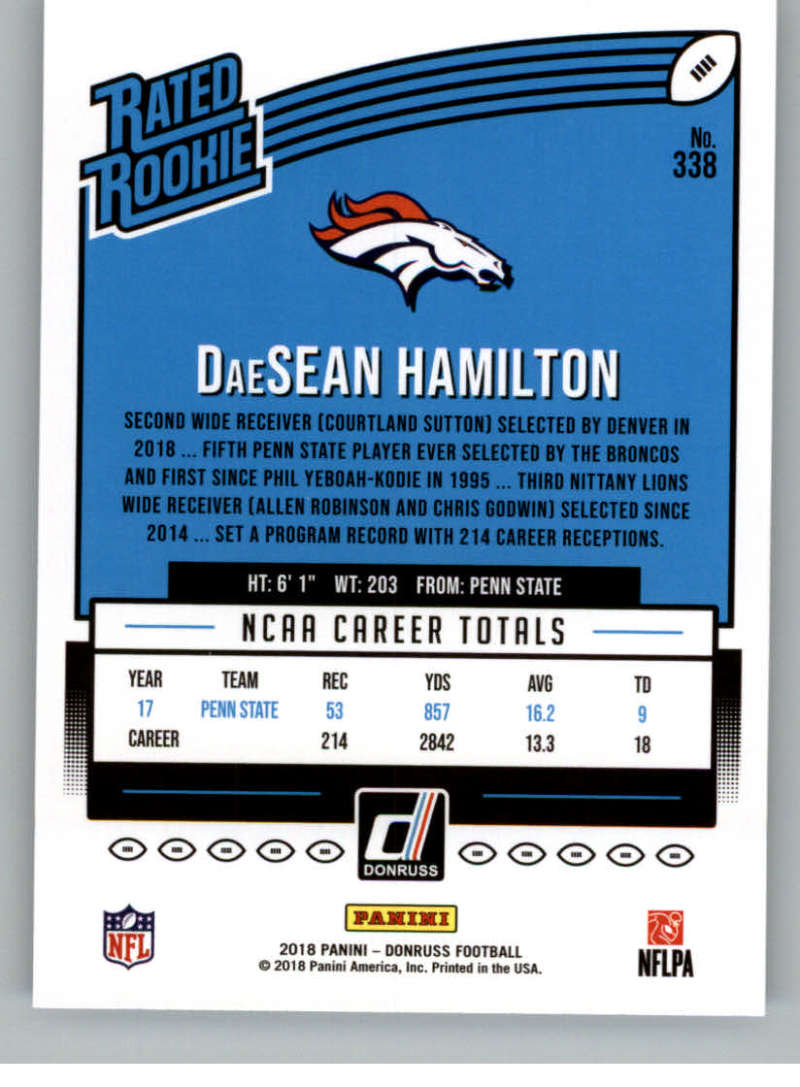 2018-Donruss-Football-Rookies-amp-Rated-Rookies-RC-Card-Singles-You-Pick miniature 27
