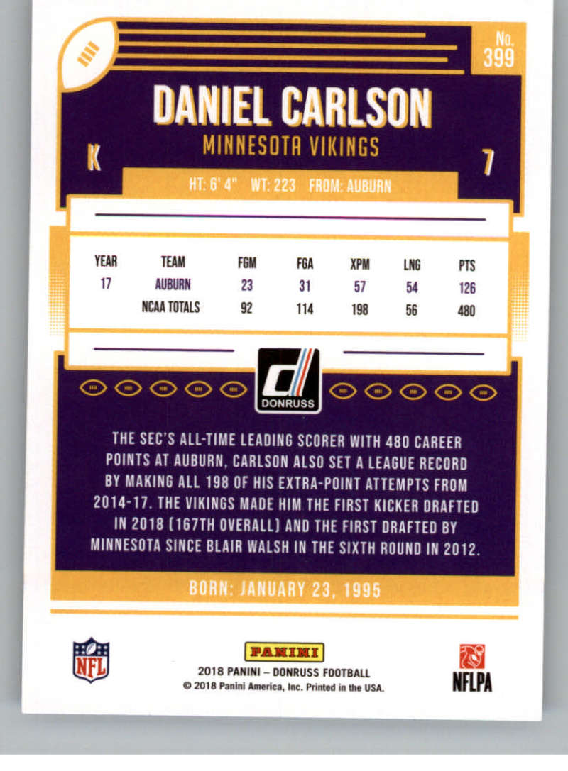 2018-Donruss-Football-Rookies-amp-Rated-Rookies-RC-Card-Singles-You-Pick miniature 111
