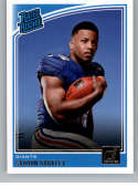 2018 Donruss #306 Saquon Barkley Rated Rookie RC Rookie New York Giants