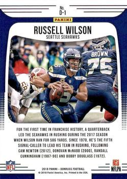 ff0ec7868ab 2018 Donruss Dominators #1 Russell Wilson. Seattle Seahawks. Front image  Front image