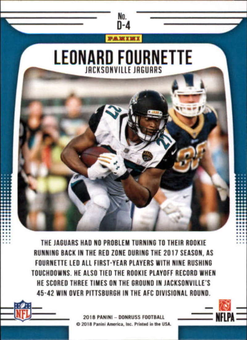 5d68a742fa2 2018 Donruss Dominators #4 Leonard Fournette. Jacksonville Jaguars. Front  image Front image