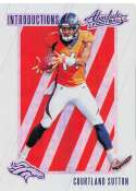 2018 Absolute Football Introductions #12 Courtland Sutton Denver Broncos  RC Rookie Card