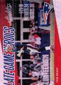2018 Absolute Football Late Game Heroics #9 Tom Brady New England Patriots  Official NFL Trading Card made by Panini