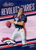 2018 Absolute Football Revolutionaries #6 John Elway Denver Broncos  Official NFL Trading Card made by Panini