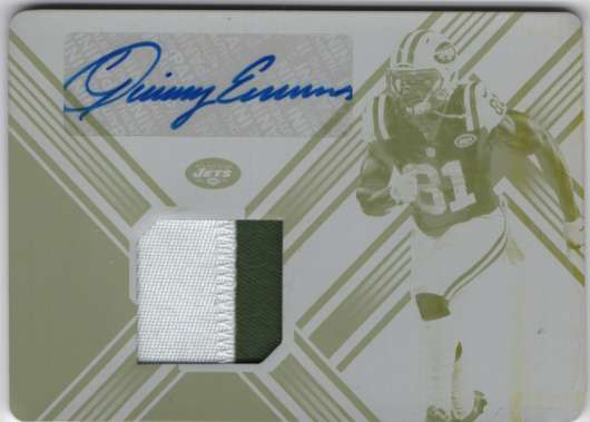 2018 Panini Xr Autographed Swatches Printing Plate Yellow