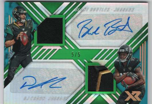 2018 Panini Xr Dual Autographed Swatches Green