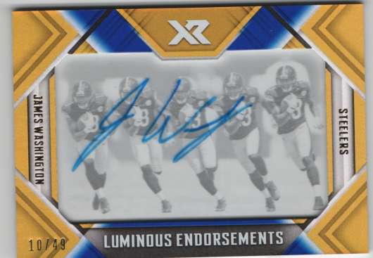 2018 Panini Xr Luminous Endorsements Blue