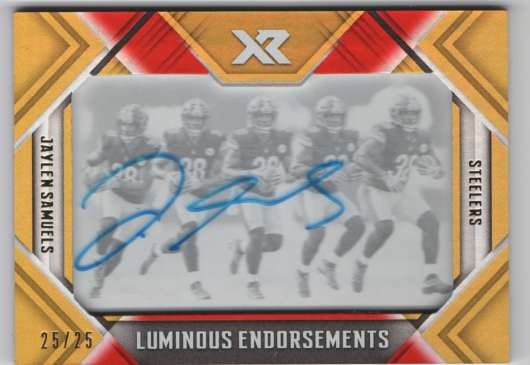 2018 Panini Xr Luminous Endorsements Orange