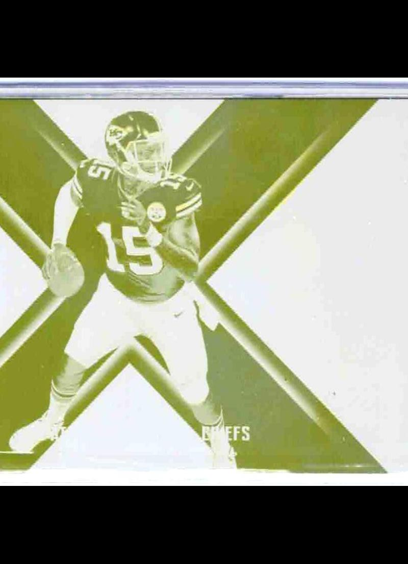 2018 Panini Xr X-Factor Printing Plate Yellow