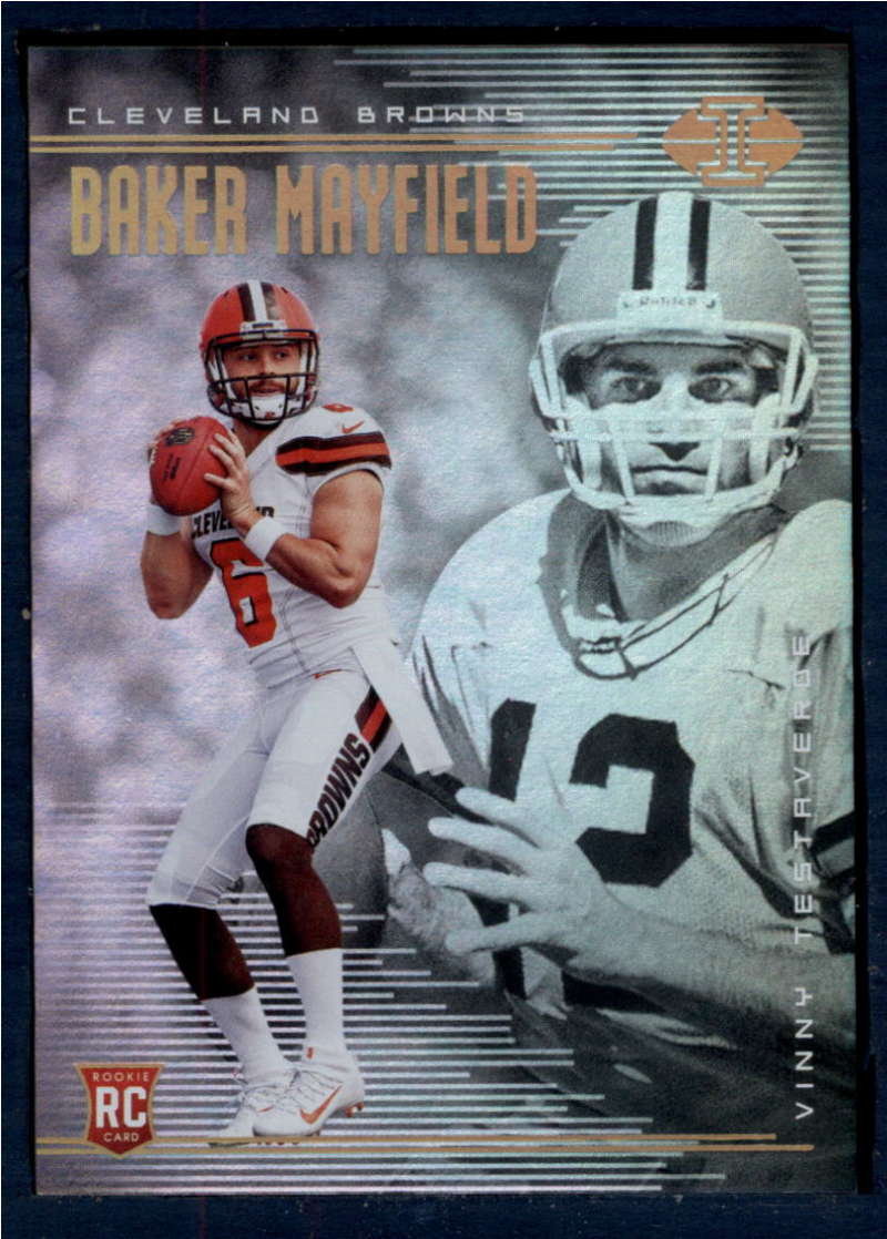 2018 Panini Illusions #2 Baker Mayfield/Vinny Testaverde NM+