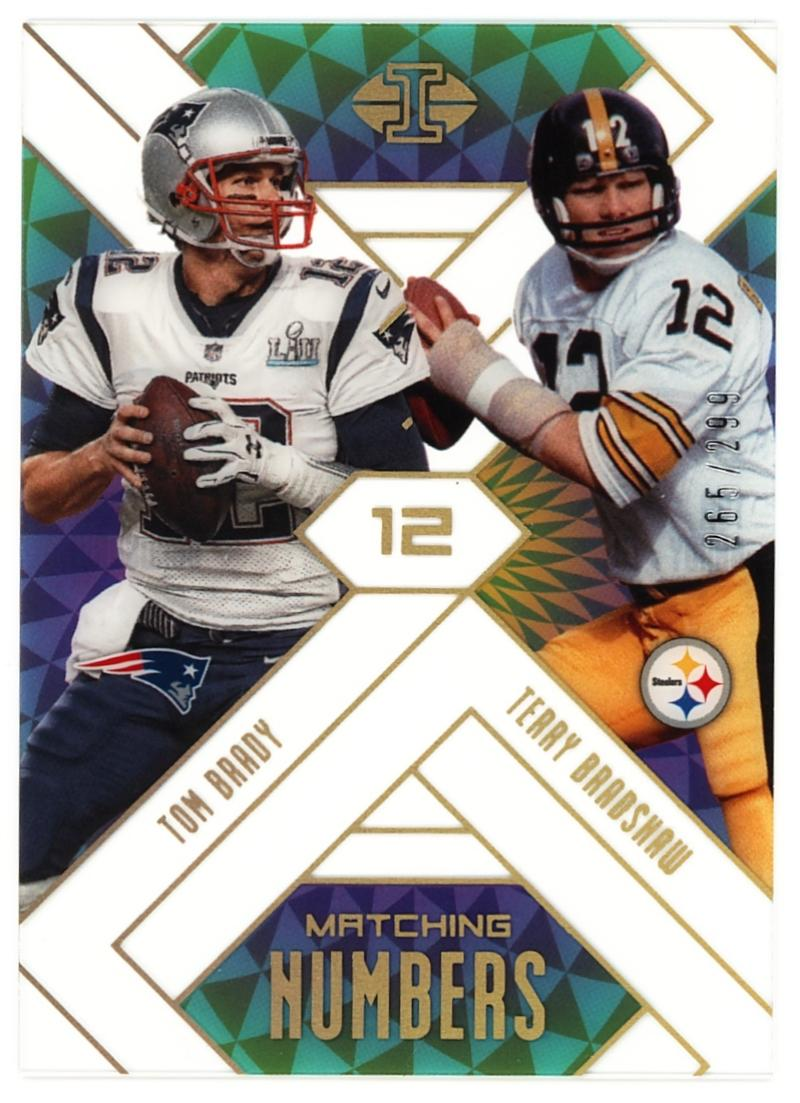 2018 Panini Illusions Matching Numbers Gold