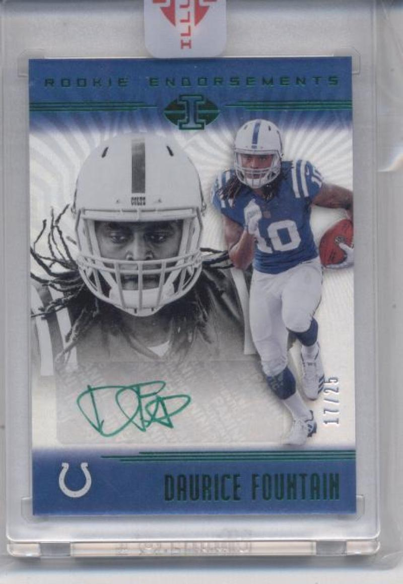 2018 Panini Illusions Rookie Endorsements Green Auto Variation