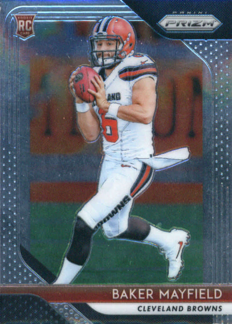 2018 Panini Prizm Football #201 Baker Mayfield Rookie RC Rookie Cleveland Browns  Official NFL Trading Card