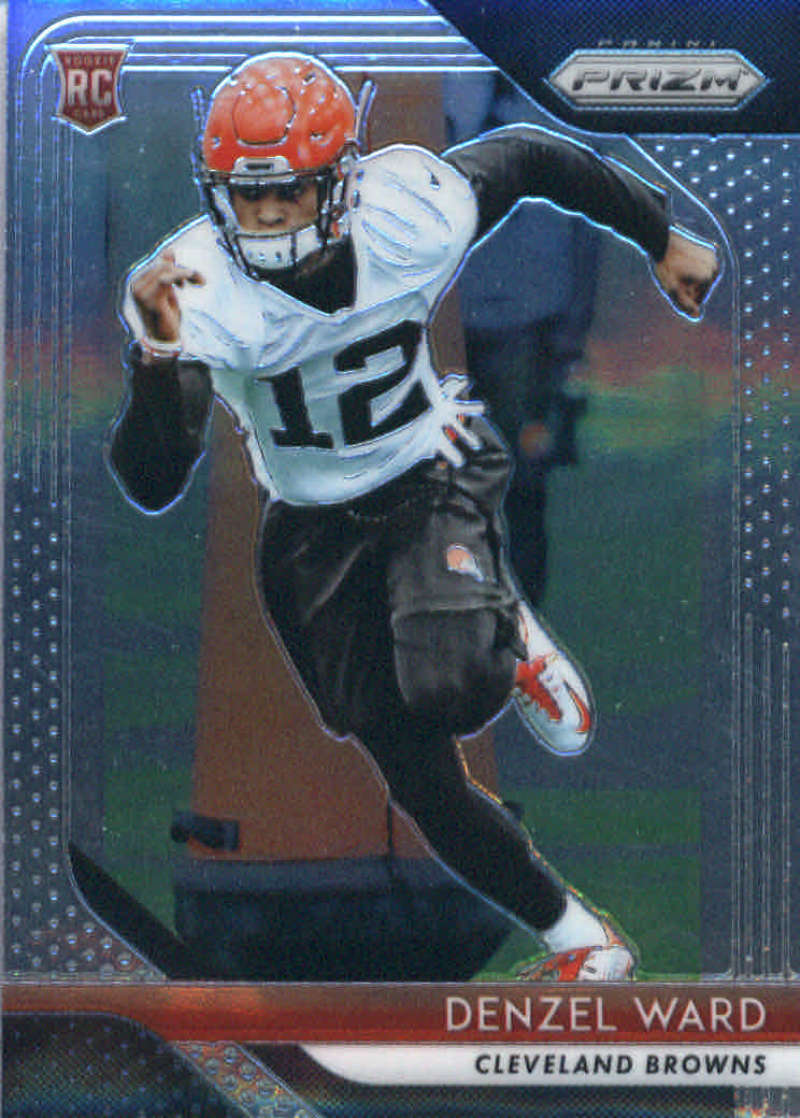 2018 Panini Prizm Football #241 Denzel Ward Rookie RC Rookie Cleveland Browns  Official NFL Trading Card