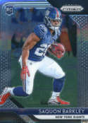 2018 Panini Prizm Football #202 Saquon Barkley Rookie RC Rookie New York Giants  Official NFL Trading Card