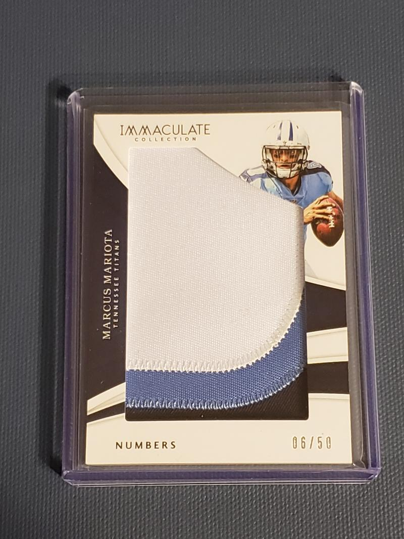 2018 Panini Immaculate Collection Numbers
