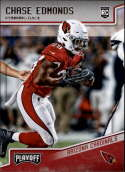 2018 Playoff Football #276 Chase Edmonds SP RC Rookie Arizona Cardinals Rookie Official NFL Trading Card made by Panini