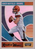 2018 Playoff NFL Rookie Wave #1 Baker Mayfield Oklahoma Sooners  RC Rookie Official Panini Football Trading Card