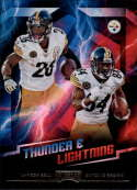 2018 Playoff NFL Thunder and Lightning #1 Antonio Brown/Le'Veon Bell Pittsburgh Steelers  Official Panini Football Trading Card